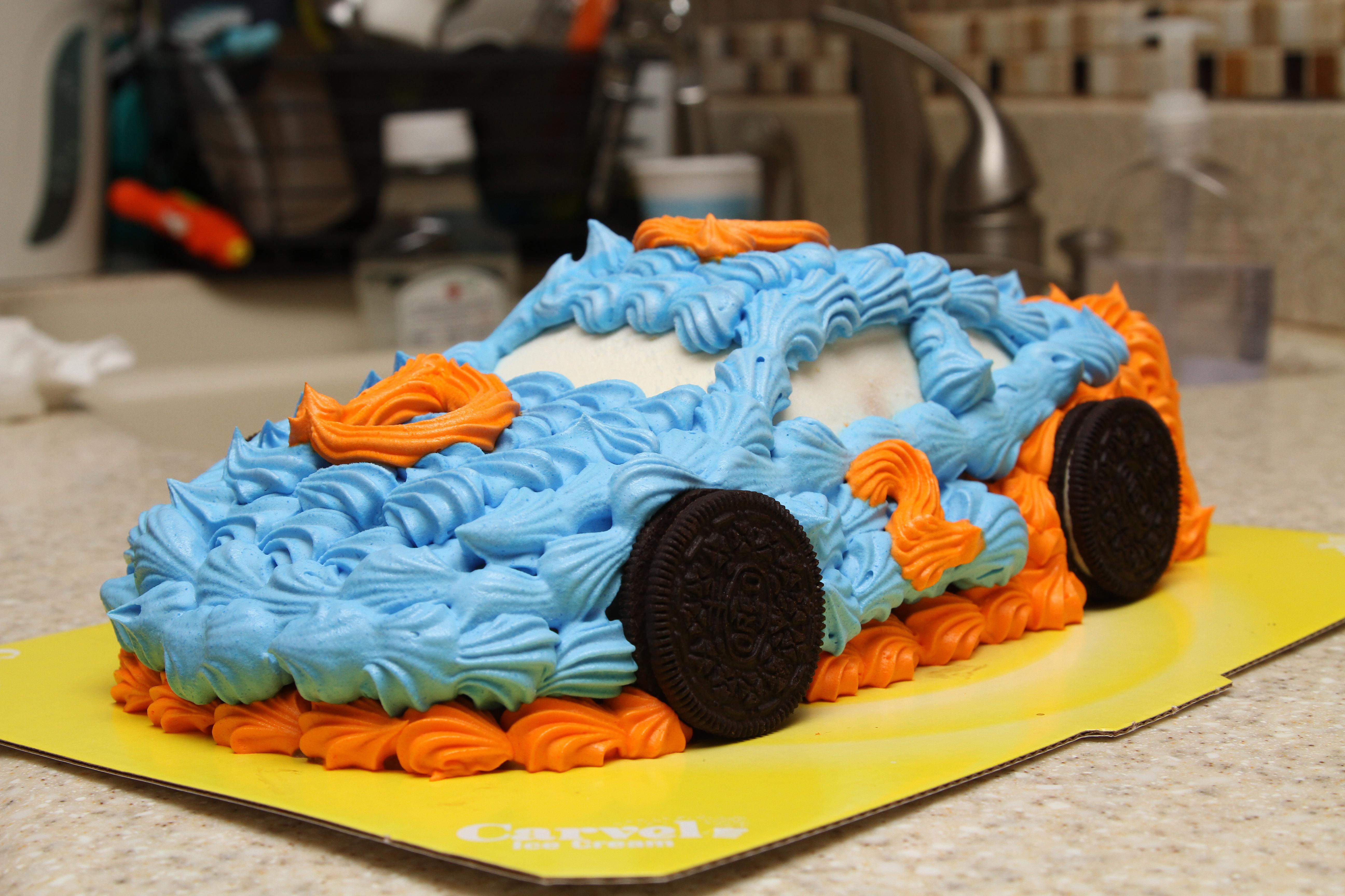 Super Carvel Car Cake Writingitup Com Funny Birthday Cards Online Elaedamsfinfo